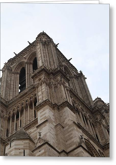 Lady Photographs Greeting Cards - Paris France - Notre Dame de Paris - 01139 Greeting Card by DC Photographer