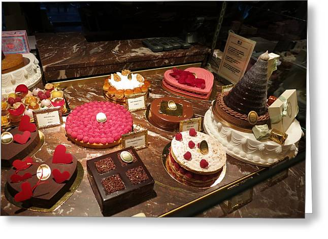 Paris France - Pastries - 12122 Greeting Card by DC Photographer