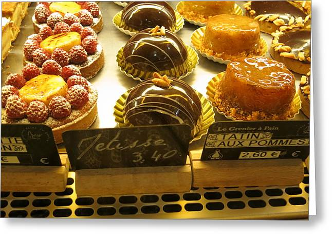 Paris France - Pastries - 121232 Greeting Card by DC Photographer