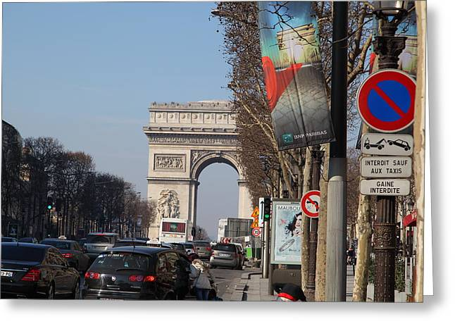 People Greeting Cards - Paris France - Street Scenes - 011322 Greeting Card by DC Photographer