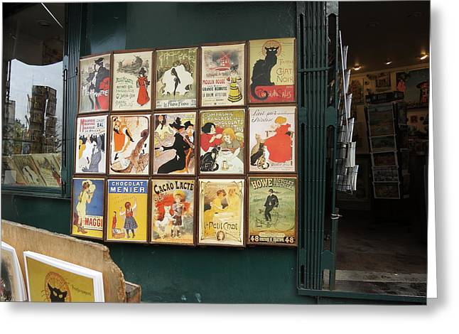 Shops Greeting Cards - Paris France - Street Scenes - 121217 Greeting Card by DC Photographer