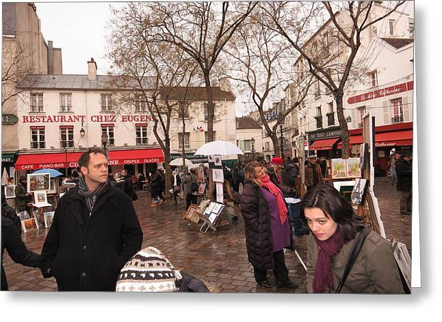 Chair Greeting Cards - Paris France - Street Scenes - 121223 Greeting Card by DC Photographer