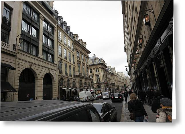Tables Greeting Cards - Paris France - Street Scenes - 121238 Greeting Card by DC Photographer