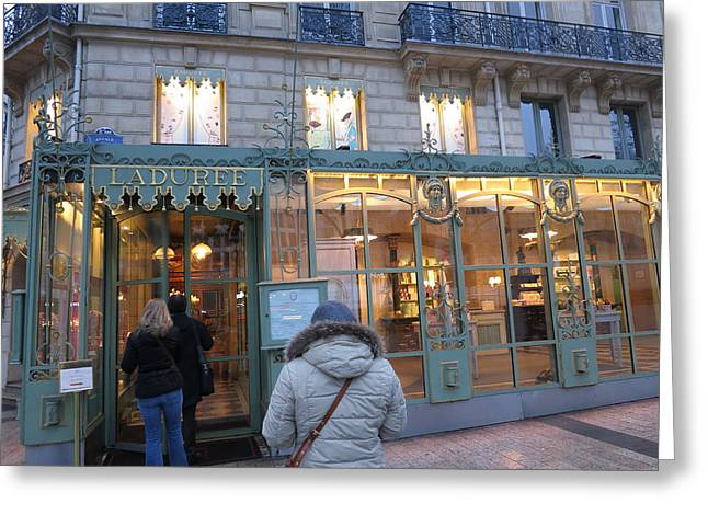 Tables Greeting Cards - Paris France - Street Scenes - 12125 Greeting Card by DC Photographer