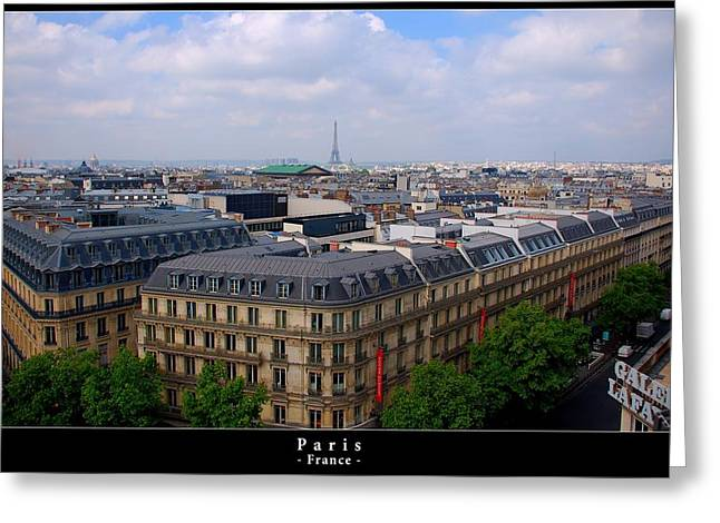 Paris From Above Greeting Card by Dany Lison