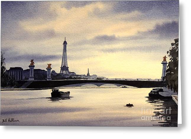 Gaul Greeting Cards - Paris From The Seine Greeting Card by Bill Holkham