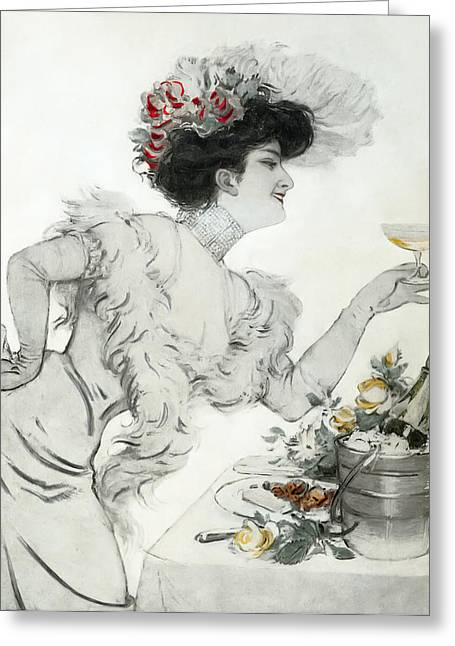 High Society Photographs Greeting Cards - Paris Holiday  1904 Greeting Card by Daniel Hagerman