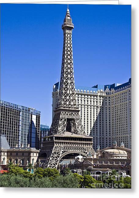 Hightower Greeting Cards - Paris Hotel Las Vegas Greeting Card by Tim Hightower