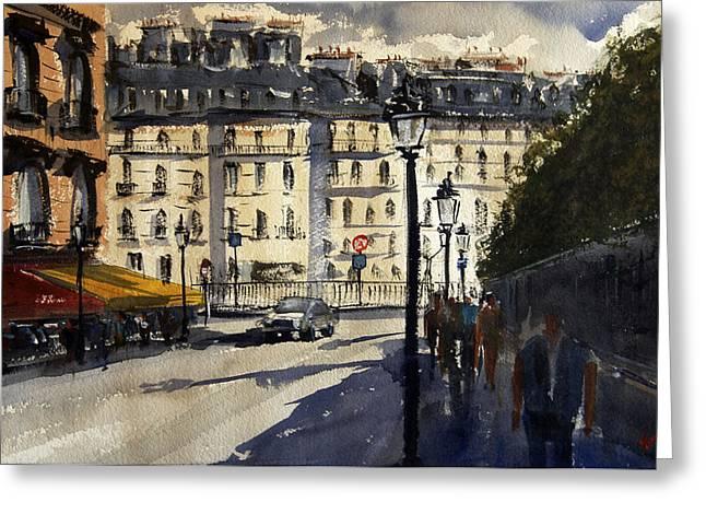 Spectacular Paintings Greeting Cards - Paris III Greeting Card by James Nyika