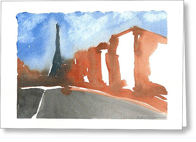 Md Paintings Greeting Cards - Paris in Silver Spring - Two Greeting Card by Meagan Healy