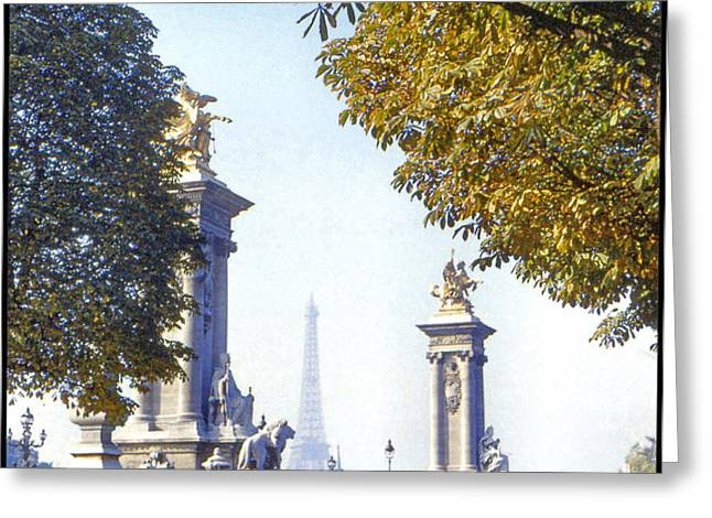 Paris in the Fall 1954 Greeting Card by Chuck Staley