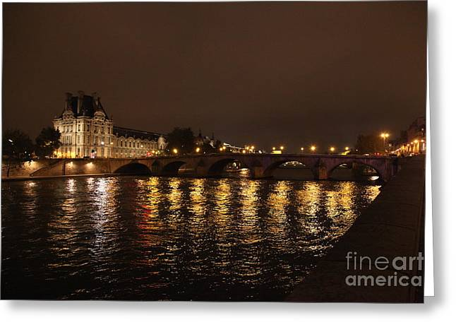 Fall Photographs Pyrography Greeting Cards - Paris in the Fall Greeting Card by JM Roy