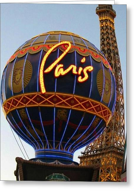 John Malone Artist Greeting Cards - Paris in Vegas Greeting Card by John Malone