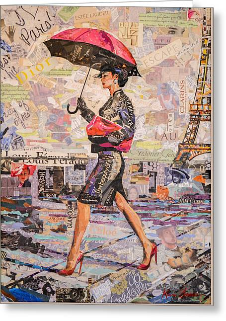Wine Magazine Art Greeting Cards - Paris is always a good idea A Greeting Card by Kevin Thomas
