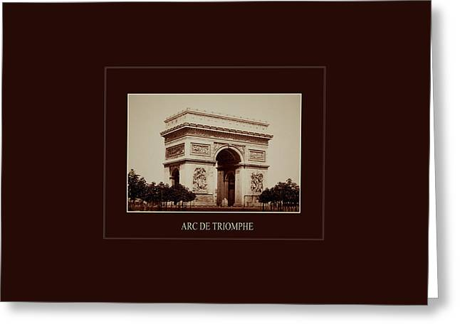 Paris Landmarks 2 Greeting Card by Andrew Fare