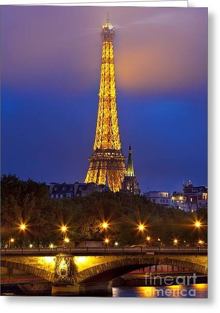 Invalides Greeting Cards - Paris Lights Greeting Card by Brian Jannsen