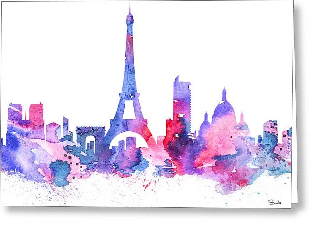 """france Poster"" Greeting Cards - Paris Greeting Card by Luke and Slavi"