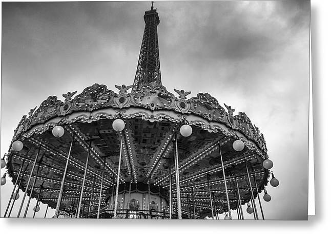French Memories Greeting Cards - Paris Merry Go Round Greeting Card by Nomad Art And  Design
