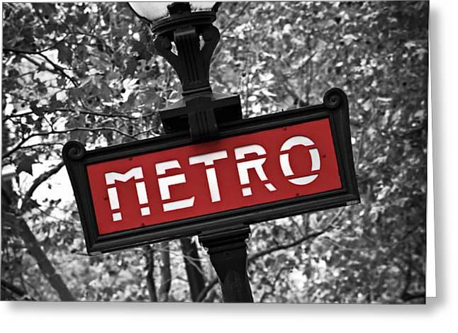 Paris metro Greeting Card by Elena Elisseeva