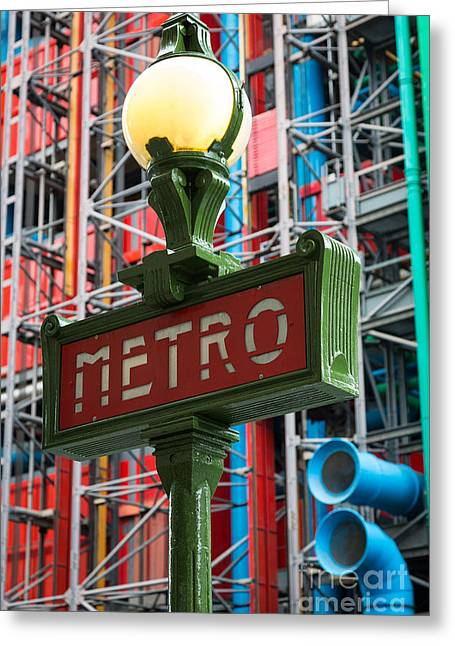 Paris Metro Greeting Card by Inge Johnsson