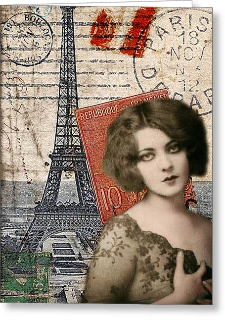 Commercial Photography Mixed Media Greeting Cards - Paris Momento Greeting Card by Sandy Lloyd