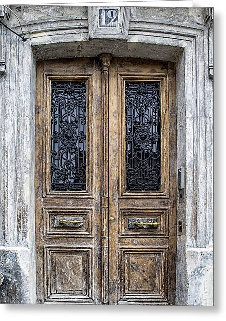 France Doors Greeting Cards - Paris Montmartre Door Number 12 Greeting Card by Nomad Art And  Design