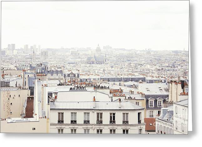 Greeting Cards - Paris Montmartre Rooftop Greeting Card by Ivy Ho