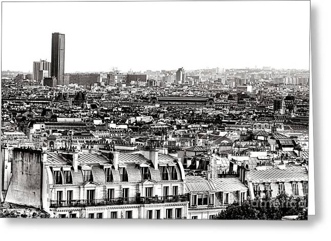 Famous Buildings Greeting Cards - Paris Montparnasse Greeting Card by Olivier Le Queinec