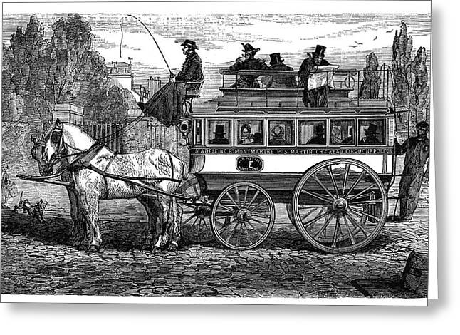 Paris Omnibus Greeting Card by Science Photo Library