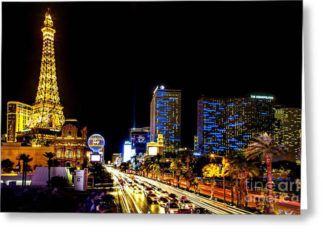 The Strip Greeting Cards - Welcome to Vegas Greeting Card by Az Jackson
