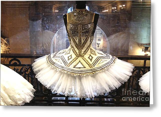 Haute Greeting Cards - Paris Opera House Ballerina Costume Tutu - Paris Opera des Garnier Ballerina Tutu Dresses Greeting Card by Kathy Fornal