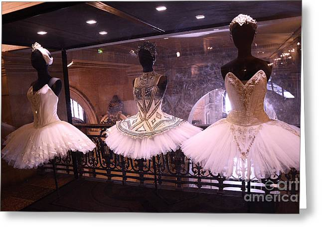 Haute Greeting Cards - Paris Opera House Ballerina Costumes - Paris Opera Garnier Ballet Art - Ballerina Fashion Tutu Art Greeting Card by Kathy Fornal