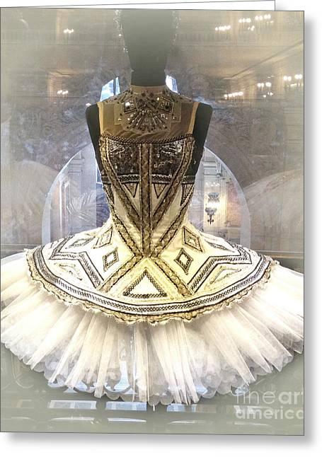 Ballet Art Greeting Cards - Paris Opera House Ballerina Tutu Costume - Opera des Garnier Ballerina Costume Greeting Card by Kathy Fornal
