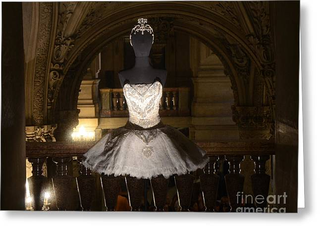 Haute Greeting Cards - Paris Opera House Ballet - Opera Garnier Ballet Costume - Paris Ballet Tutu - Paris Ballerina Art Greeting Card by Kathy Fornal