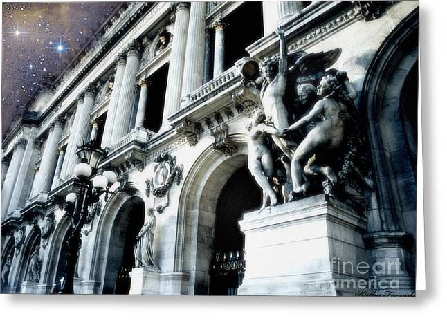 Paris In Blue Greeting Cards - Paris Opera House - Palais Garnier - Opera de Paris Garnier - Opera House Architecture Greeting Card by Kathy Fornal