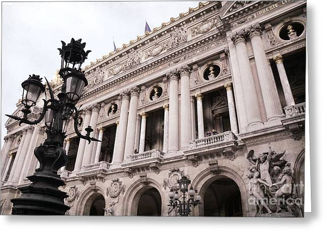 Paris Opera House - Paris Opera Des Garnier - Paris Art Nouveau Opera House Architecture Greeting Card by Kathy Fornal
