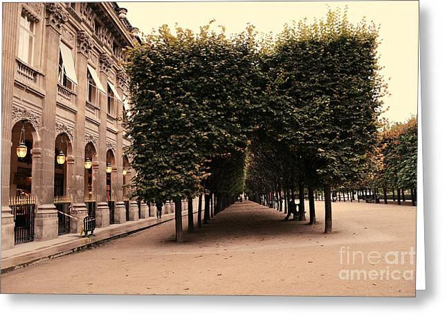 Photos Of Autumn Greeting Cards - Paris Palais Royal French Palace - Paris Palais Royal Architecture - Paris Autumn Fall Trees  Greeting Card by Kathy Fornal