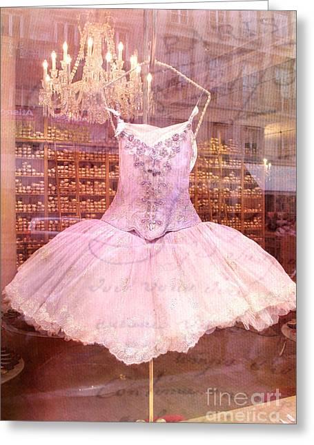Kathy Greeting Cards - Paris Pink Ballerina Tutu - Paris Repetto Ballet Shop - Paris Ballerina Dress Tutu - Repetto Ballet Greeting Card by Kathy Fornal