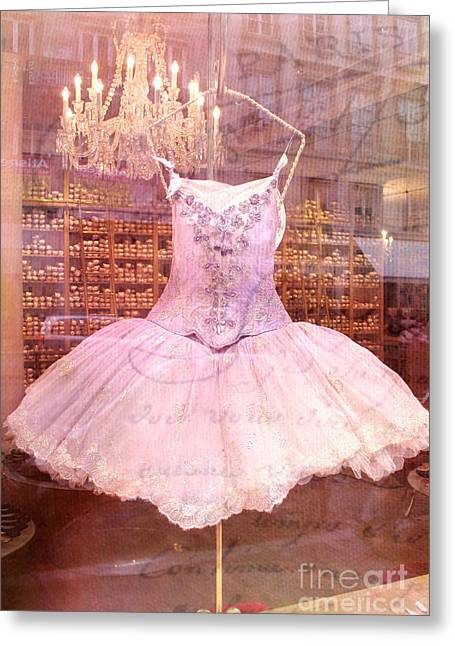Paris Pink Ballerina Tutu - Paris Pink Ballerina Tutu Greeting Card by Kathy Fornal
