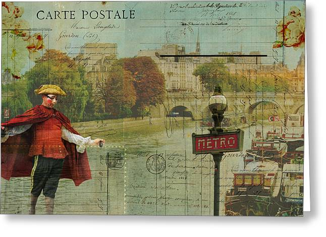 Commercial Photography Paintings Greeting Cards - Paris Revealed Greeting Card by Sandy Lloyd