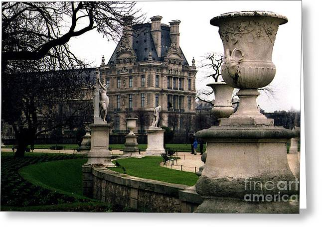 Paris Louvre Tuileries Park - Jardin Des Tuileries Garden - Paris Landmark Garden Sculpture Park Greeting Card by Kathy Fornal