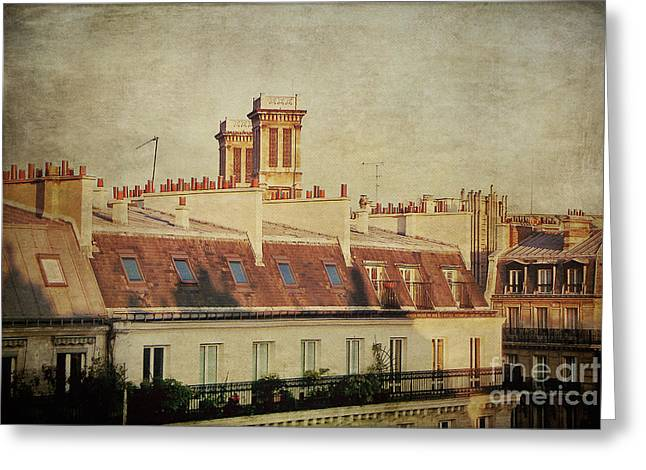 Paris Rooftops Greeting Card by Ivy Ho