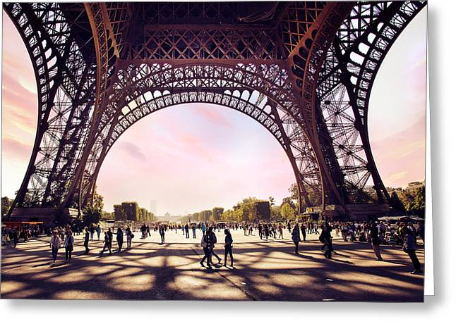 Editorial Photographs Greeting Cards - Paris shadows Greeting Card by Ivan Vukelic
