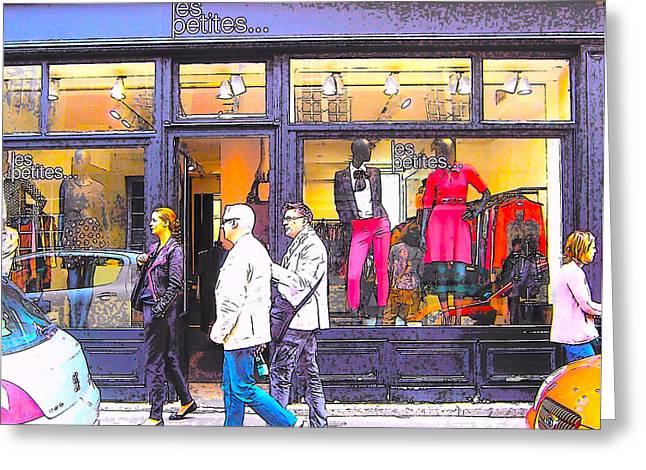 Fashion Photo Prints Greeting Cards - Paris Shopping Greeting Card by Jan Matson