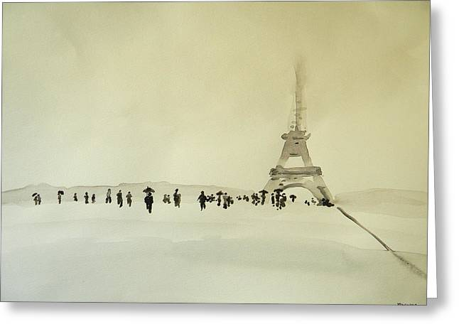 Canadian Photographer Paintings Greeting Cards - Paris Sous La Neige Greeting Card by Marwan George Khoury