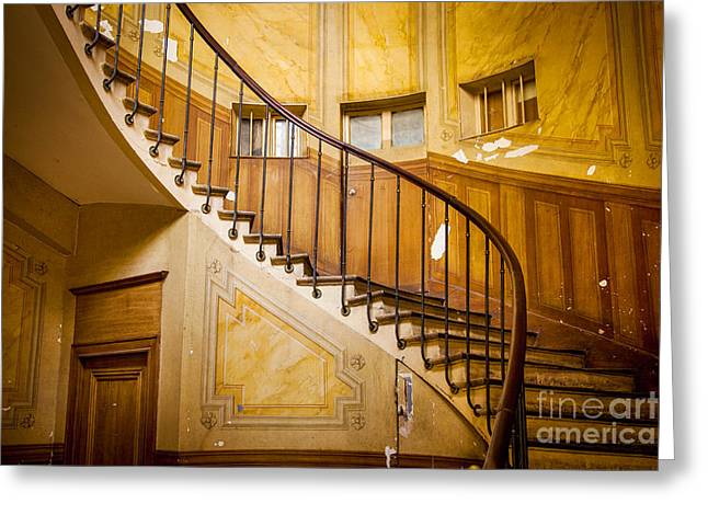 Wooden Stairs Greeting Cards - Paris Staircase Greeting Card by Brian Jannsen