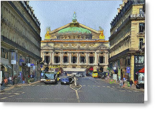 Old Town Digital Greeting Cards - Paris Streets 6 Greeting Card by Yury Malkov