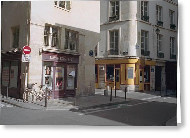 Paris Streets Greeting Card by Marcio Faustino