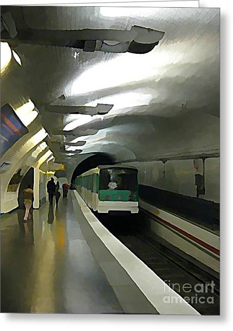Johnmaloneartist.com Greeting Cards - Paris Subway  Greeting Card by John Malone