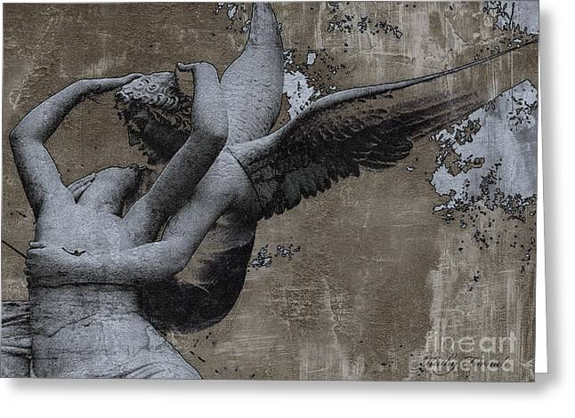 Paris - Surreal Angel Art - Eros And Psyche  Greeting Card by Kathy Fornal